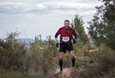 Hard marathon mountain race — Stock Photo