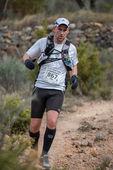 Carrera de montaña dura maratón, escalada — Foto de Stock