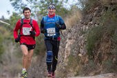 Hart mountain race, freunde — Stockfoto