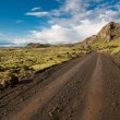 Track through Iceland — Stock Photo