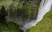 Vodopád skogafoss — Stock fotografie