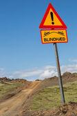 Straight track through Iceland — Stock Photo