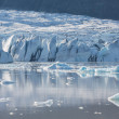 Blue icebergs and lagoon — Stock Photo