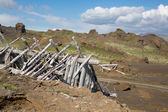 Ruined cabin — Stock Photo
