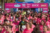Woman Race against cancer — Foto de Stock