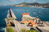 Breakwater Castro Urdiales — Stock Photo