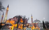 Hagia Sophia at sunset — Stock Photo
