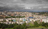 Wide view of Edinburgh skyline — Stockfoto