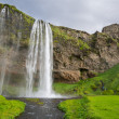 Wide view of Seljalandsfoss, the waterfall in Iceland — Stock Photo #48416233
