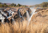 Epupa waterfalls long exposure — Stock Photo