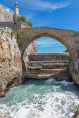 Stone bridge in Castro Urdiales, Cantabria, Spain — Stock Photo