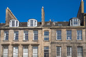 Front view of vintage facades in Edinburgh — Stock Photo