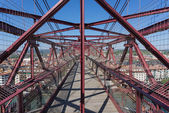 On top of the Bizkaia suspension bridge — Stock Photo