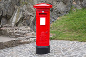 Typical red british postbox — Stock Photo