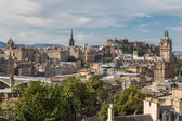 View of the castle from Calton Hill — Stock Photo