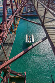 On top of the Bizkaia suspension bridge — Stock Photo