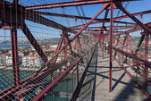 On top of the Bizkaia suspension bridge — Стоковое фото