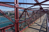 On top of the Bizkaia suspension bridge — Foto Stock