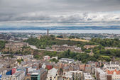 Wide view of Carlton hill in Edinburgh — Stock Photo