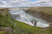 Vattenfallet gullfoss, island — Stockfoto