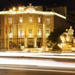 Plaza de la Cibeles with traffic lights - Stock Photo