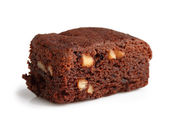 Brownie with hazelnut — Stock Photo