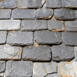 Close up of slate roof tiles background — Stock Photo