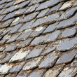 Aged Slate roof tiles — Stock Photo