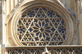 Detail of rosette in Valencia Cathedral — Stock Photo