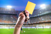 Yellow card — Stock Photo