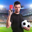 Referee with red card — Stock Photo #31816121