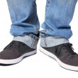 Jeans & sport shoes — Stock Photo
