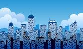 Fundo da cidade — Vetorial Stock