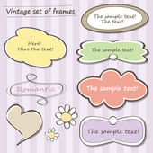 Vintage set of frames — Vector de stock