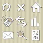 Set of doodle icons — Stock Vector