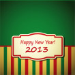 Stock Vector: New year background with vintage frame
