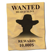 Old wanted poster — Stock Vector
