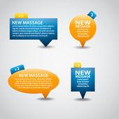 Bolhas para interface web ou app — Vetorial Stock