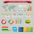 Stock Vector: Set elements of infographics