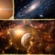 Collage on the theme of space — Foto Stock