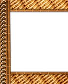 Straw frame for photo — Stock Photo