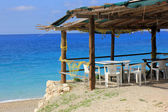 Greek tavern, Lefkada island — Stockfoto