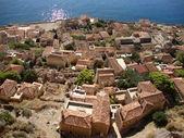 View of Monemvasia, Peloponnese — Stock Photo
