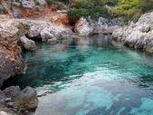 ポルトの静かな湾 limnionas, ギリシャ — ストック写真