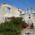 Ruins of St Dennis Monastery, Zante island, Greece — Stock Photo