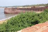 Candolim beach, Fort of Aguada, South India — Foto de Stock