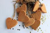 Wooden hearts — Stock Photo