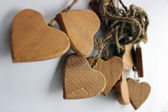 Wooden hearts — 图库照片