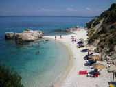 Xigia, sulfur beach, Zakynthos island, Southern Greece — Stock Photo