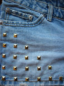 Denim and Studs — Stock Photo